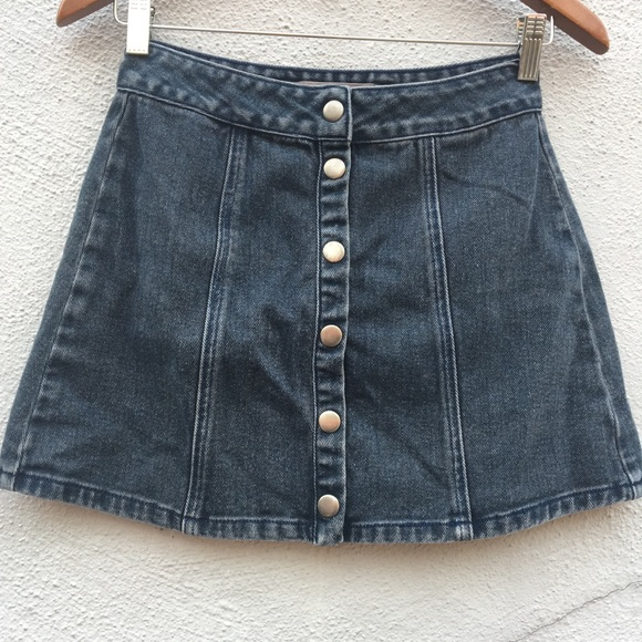 d405669010 Brandy Melville Dresses & Skirts - Brandy Melville Snap Button Mini Skirt  100% Cotton